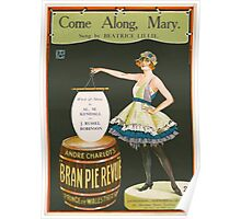 COME ALONG MARY (vintage illustration) Poster