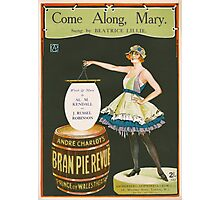 COME ALONG MARY (vintage illustration) Photographic Print