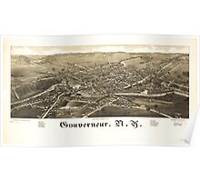 Panoramic Maps Gouverneur NY Poster