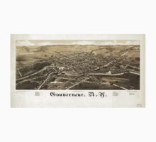 Panoramic Maps Gouverneur NY Baby Tee