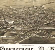 Panoramic Maps Gouverneur NY Sticker