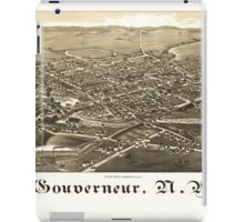 Panoramic Maps Gouverneur NY iPad Case/Skin