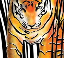 ENDANGERED TIGER BARCODE illustration print Sticker