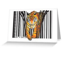 ENDANGERED TIGER BARCODE illustration print Greeting Card