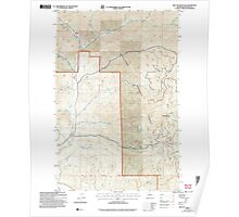 USGS Topo Map Washington State WA Red Top Mountain 243401 2003 24000 Poster