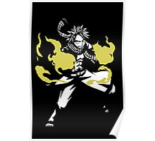 Natsu Dragneel Fire Fairy Tail Anime Cosplay Japan T Shirt Poster