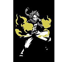 Natsu Dragneel Fire Fairy Tail Anime Cosplay Japan T Shirt Photographic Print