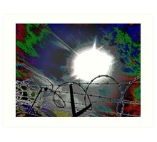 """Barbed Wire"" Art Print"