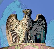 """Eagle Atop The Market Street Bridge"" by Gail Jones"