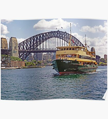 Manly Ferry approaching Circular Quay Poster