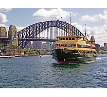 Manly Ferry approaching Circular Quay Photographic Print