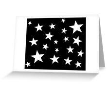 Star Spangled Black Night Greeting Card