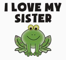 I Love My Sister Frog One Piece - Long Sleeve