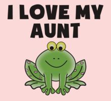 I Love My Aunt Frog One Piece - Short Sleeve