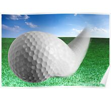Golf Ball Bouncing Poster