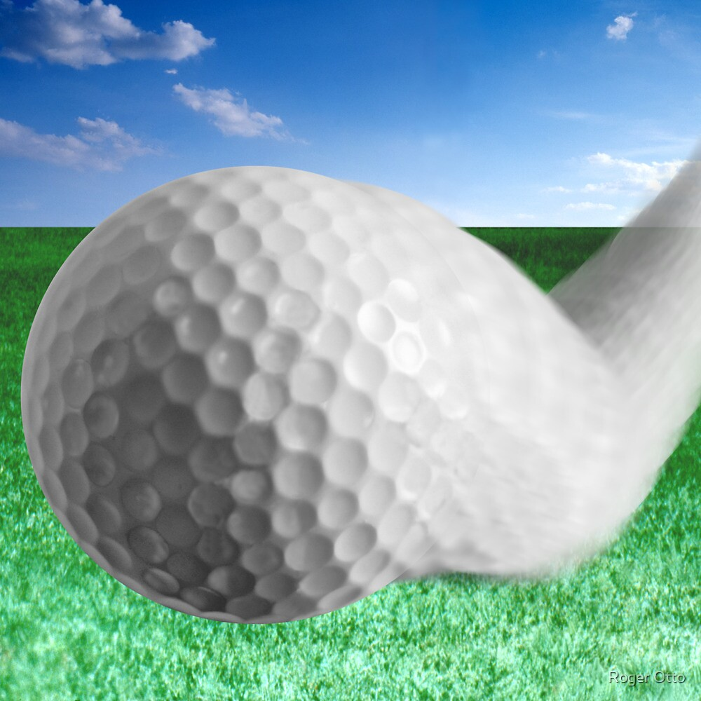 Golf Ball Bouncing by Roger Otto