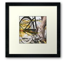 retro BICYCLE URBAN CHIC print Framed Print