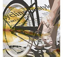 retro BICYCLE URBAN CHIC print Photographic Print
