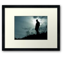 It's a black shadow Framed Print