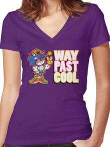 Way Past Cool, Dude! Women's Fitted V-Neck T-Shirt