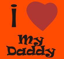 I Love My Daddy Kids Tee
