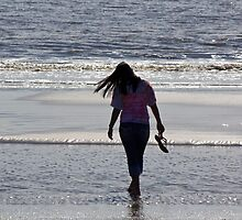 Walking on the beach 3 by Brenda  Meeks