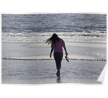 Walking on the beach 3 Poster