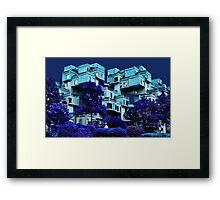 ๑۩۞۩๑HABITAT 67 MONTREAL-VERSION ONE-APPAREL ๑۩۞۩๑ Framed Print