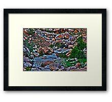Waterway HDR Framed Print