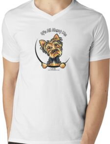 Yorkie Its All About Me Mens V-Neck T-Shirt
