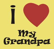 I Love My Grandpa One Piece - Short Sleeve