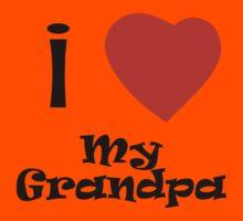 I Love My Grandpa Kids Tee