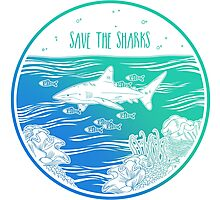 Save the Sharks! Photographic Print
