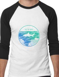 Save the Sharks! Men's Baseball ¾ T-Shirt