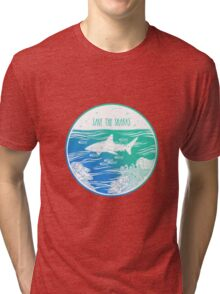 Save the Sharks! Tri-blend T-Shirt