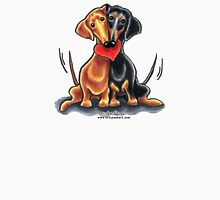 Dachshunds Have Heart Womens Fitted T-Shirt
