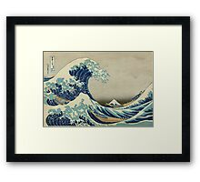 the great wave kanagawa japan Framed Print