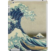 the great wave kanagawa japan iPad Case/Skin