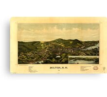 Panoramic Maps Milton NH 1888 Canvas Print