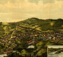 Panoramic Maps Milton NH 1888 Sticker