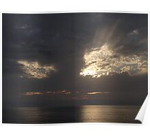 Holy Thursday Sunset Sky - Cielo de Puesta del Sol de Jueves Santo Poster