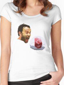 WILSON! CHUCK!  Women's Fitted Scoop T-Shirt