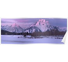 Winter Sunrise - Oxbow Bend Poster