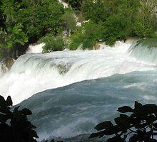 Waterfalls of Krka by Hans Bax