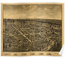 Panoramic Maps Combination atlas map of Logan county Ohio Poster