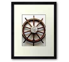 SHIPS WHEEL Framed Print