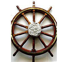 SHIPS WHEEL Photographic Print