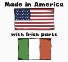 Made In America With Irish Parts One Piece - Short Sleeve