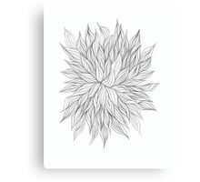 Lovely Lined Leaves Canvas Print