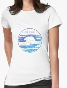 Save the Bears! Womens Fitted T-Shirt